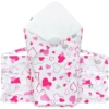 Kép 3/7 - Klasszikus megkötős pólya New Baby rózsaszín szívecskék