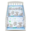 Kép 1/4 - 2 részes ágyneműhuzat New Baby 100/135 cm kék elefántos