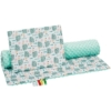 Kép 2/3 - Kétoldalas ágynemű szett Minka New Baby - süni menta