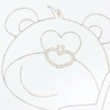 Kép 3/3 - Gyerek kiságy New Baby - Maci csillaggal, leengedhető oldalráccsal (tölgy)