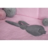Kép 4/4 - 3 részes ágyneműgarnitúra Belisima Nyuszi 100/135 rózsaszín-szürke