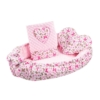 Kép 3/6 - Luxus babafészek szett párnával és paplannal New Baby Szívecske (rózsaszín)