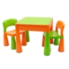 Kép 1/6 - Gyerek szett NEW BABY - asztalka két székkel (narancssárga)