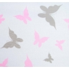 Kép 3/4 - 3 részes ágyneműhuzat New Baby 90/120 cm fehér pillangó