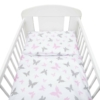 Kép 4/4 - 3 részes ágyneműhuzat New Baby 90/120 cm fehér pillangó