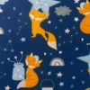 Kép 3/3 - Kétoldalas ágynemű szett Velvet New Baby - éjszakai róka szürke
