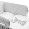 Kép 2/3 - 3 részes ágyneműhuzat New Baby Zebra exclusive 100/135 fehér-szürke