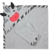 Kép 1/4 - Kifogó fürdőkesztyűvel Koala Happy Zebra szürke