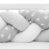 Kép 5/5 - Fonott rácsvédő kiságyba New Baby Csillag szürke-fehér