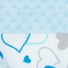 Kép 4/6 - Luxus babafészek szett párnával és paplannal New Baby Minky kék szívecskék