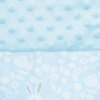 Kép 4/6 - Luxus babafészek szett párnával és paplannal New Baby Minky Nyuszi (kék)