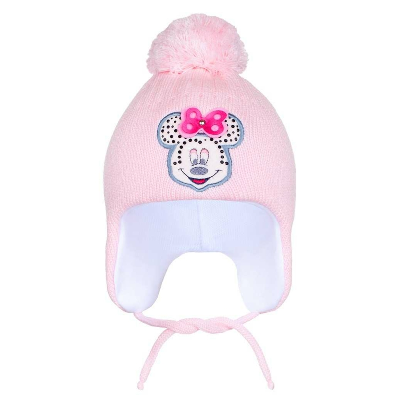Téli gyermek sapka New Baby Minnie világos rózsaszín
