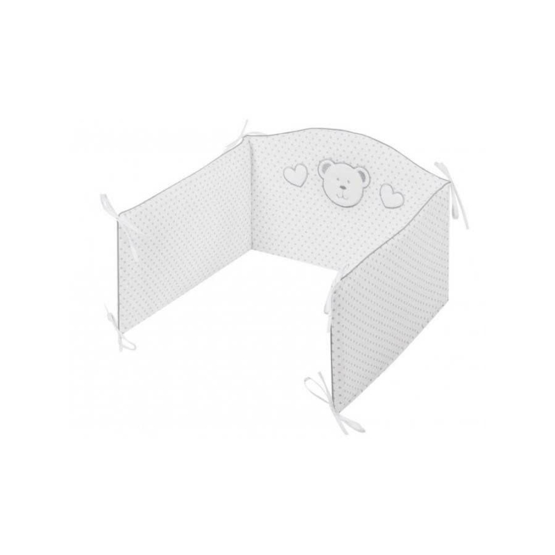 3 részes ágyneműgarnitúra Belisima Fehér maci 100/135