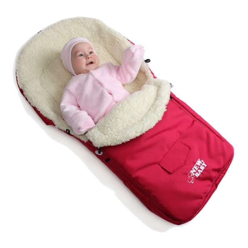 Téli lábzsák New Baby Classic Wool rózsaszín