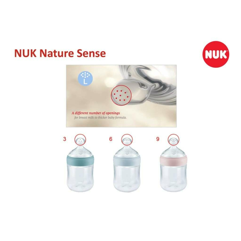 Baba cumisüveg Nuk Nature Sense 150 ml rózsaszín