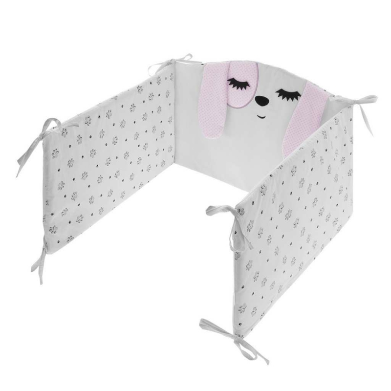 3 részes ágyneműgarnitúra Belisima Lovely Puppy 90/120 rózsaszín
