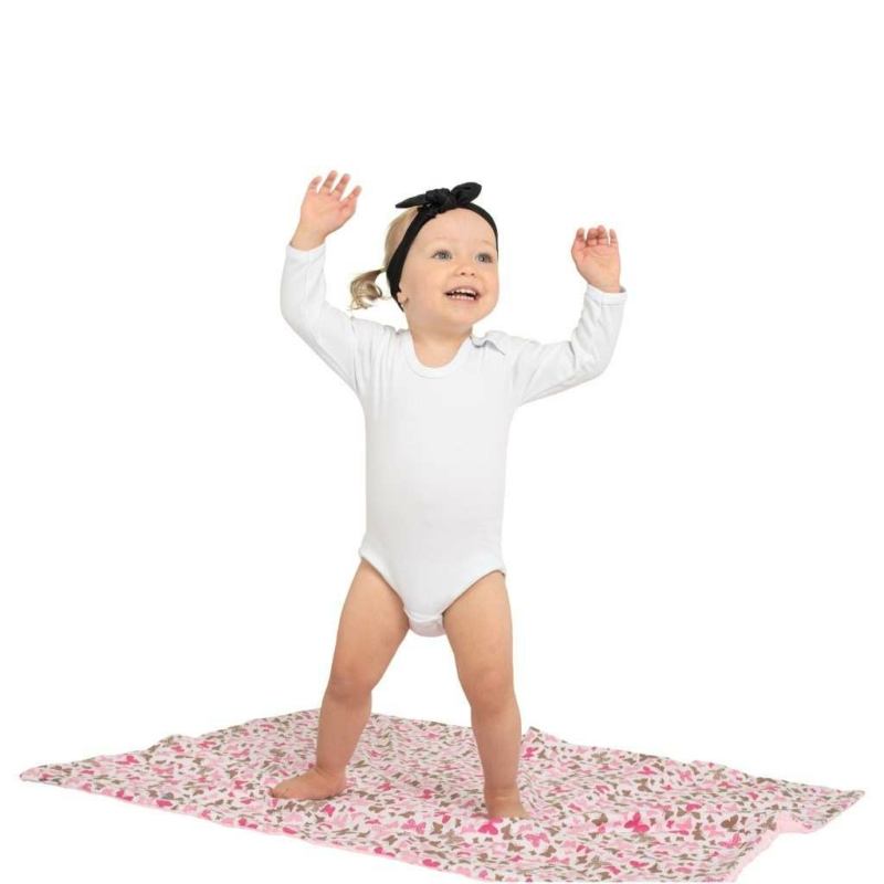Gyermek pléd Minky New Baby rózsaszín 80x102 cm