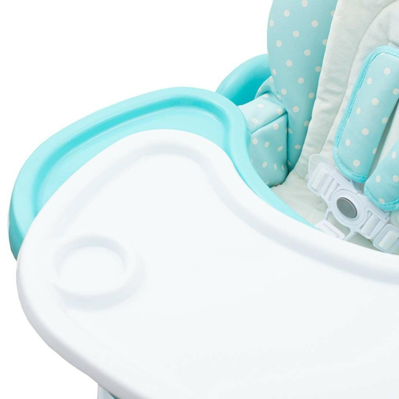 Etetőszék NEW BABY Minty Fox - öko-bőr és újszülött betét