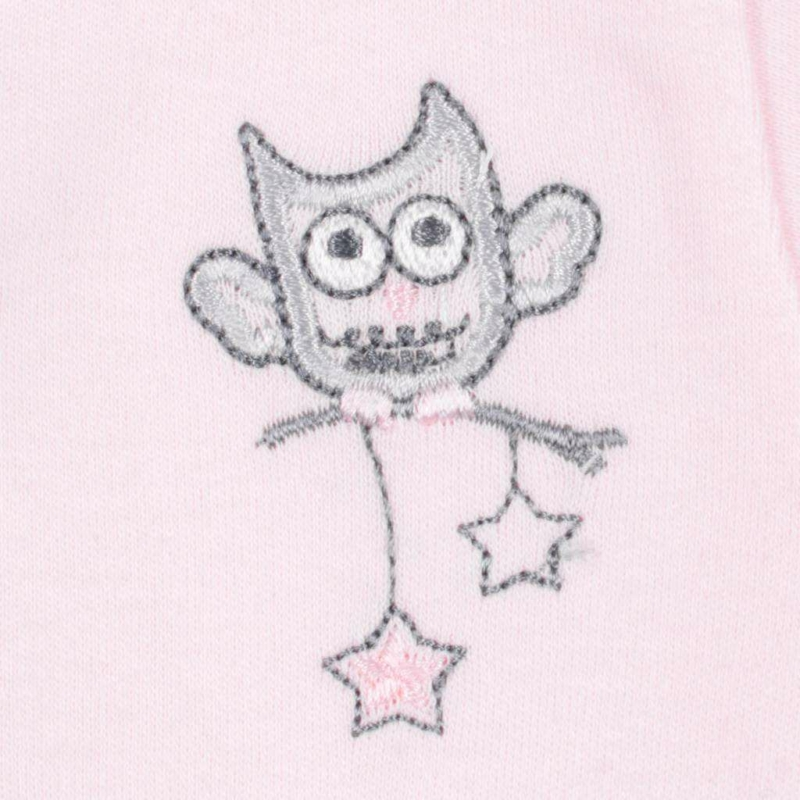 Baba patentos body New Baby Owl rózsaszín