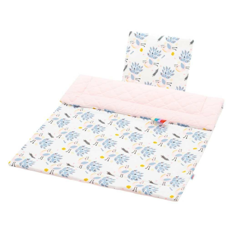 Kétoldalas ágynemű szett Velvet New Baby - páva rózsaszín