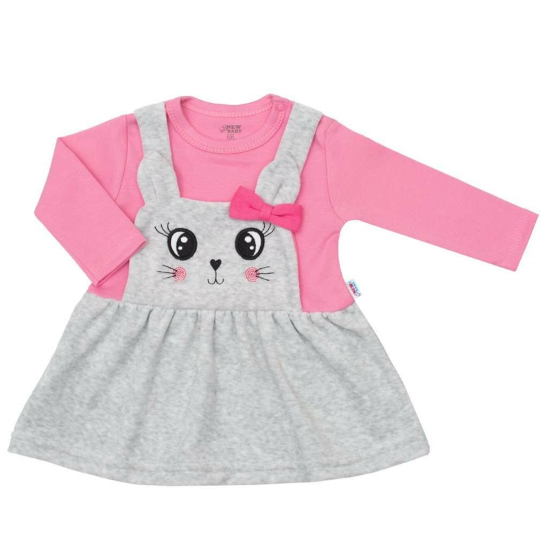 Plüss baba ruha New Baby For Babies rózsaszín