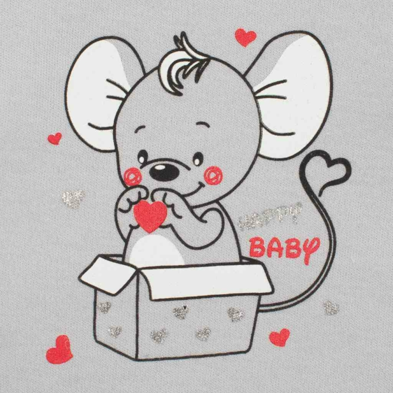 Baba kezeslábas New Baby Mouse szürke
