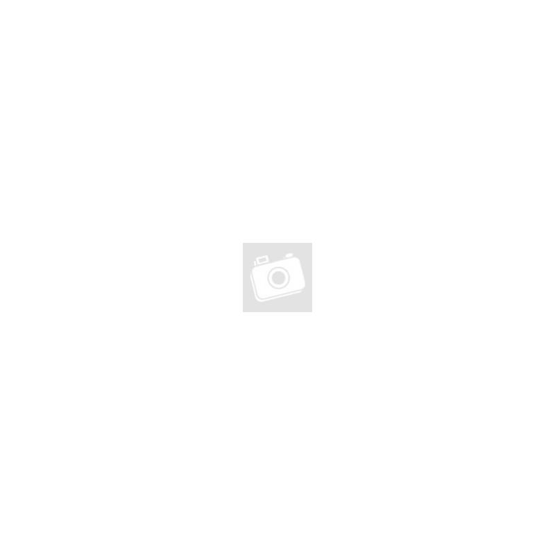 Fából készült fehér, kétajtós ruhás szekrény zsiráf mintával