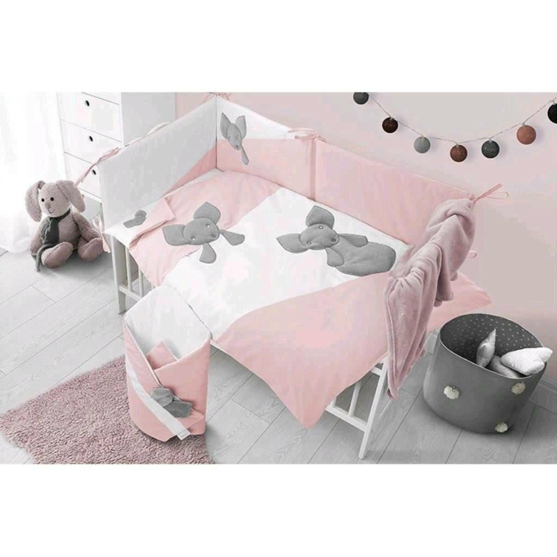Babafészek kisbabák számára Minky Belisima Mouse (rózsaszín)