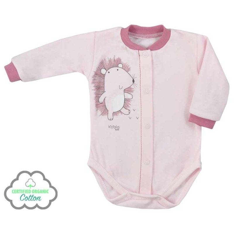 Baba BIO patentos body Koala Erdei Barát rózsaszín
