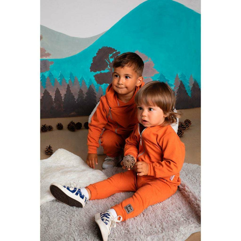 Baba pulóver kapucnival Nicol Fox Club (narancssárga)